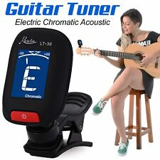 ELECTRIC GUITAR TUNER LCD CLIP-ON CHROMATIC ACOUSTIC ELECTRIC BASS UKULELE BANJO