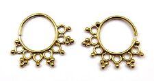 Brass Hoops Indian Ethnic Earrings Hoops Sleeper Earrings Boho