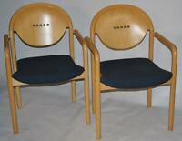 Set of 2 Italian TONON Stackable Teak Chairs - FREE Shipping [PL1576A]