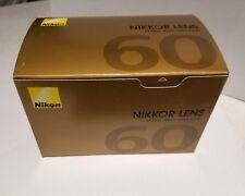 Nikon Lens AF 60mm f2.8 D Micro Nikkor Lens *NEW*