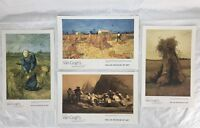Dallas Museum Of Art Van Gogh Sheaves Of Wheat Exhibition Art Print Lot Of 4