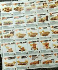 *NEWEST* 25 BURGER KING COUPON DEALS BK Restaurant Whopper ~ 1/10/21 ~ FAST SHIP