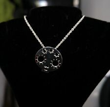 SALE Mexican Solid .925 Sterling Silver Chain & Skull Pendant - Beautiful Gift