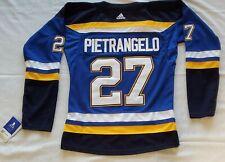 Alex Pietrangelo #27 St. Louis Blues 2019 NHL Hockey Jersey Womens Size LG /Med