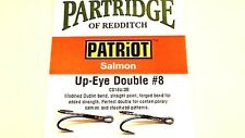 Patriot Salmon up Eye Double Fly Fishing Hooks Colour Black From Partridge Size 12