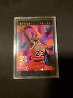 MICHAEL JORDAN 1995 SKYBOX NBA HOOPS #1 CRUNCHERS INSERT CARD MJ Basketball Mint