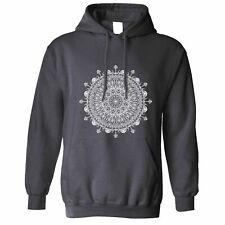 Summer Art Hoodie Indian Mandala Pattern Design Floral Drawn Logo