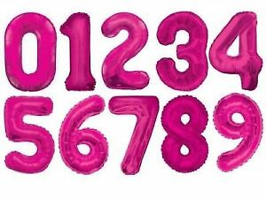 """34"""" Giant Foil Number Pink Helium Large Balloons Birthday Party Wedding"""