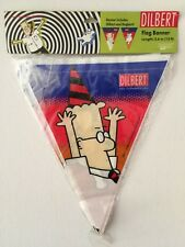 Dilbert and Dogbert Comic Plastic Pennant Banner 12 Ft