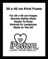 FRAME-CORNICE NERO normale per le stampe 30 x 40 CM-UK Made