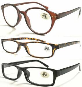 Men's Women's Reading Glasses/ 3 Styles Lightweight Pocket Plastic Frame ***