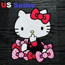 1 Hello Kitty with Bownot Car Sticker / Room / Window / LapTop / iPad sticker