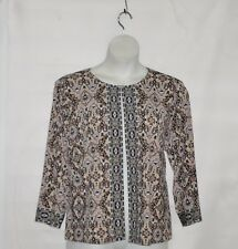Joan Rivers Moroccan Spice Knit Jacket w/ 3/4 Sleeves Size 1X Neutral