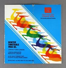 TUNIS AIR UK AIRLINE TIMETABLE WINTER 1980/81