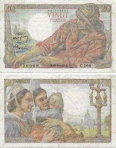France Banknote - 20 Vingt Francs from 1948