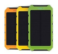 Waterproof 5000mAh Dual USB Solar Power Bank Chargers -Multi. Charge Protections