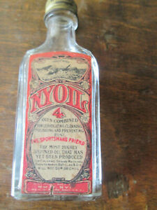 Vintage Nyoil 3 oz Bottle 4 Oils Combined Wm F Nye, New Bedford Mass.