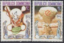 Upaep Rep Dominicana 1397/98 1999 Paloma, fusil y minas Explosión nuclear MNH