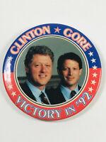 1992 Bill Clinton Al Gore Presidential Campaign Button pin pinback