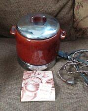 Vtg WestBend Electric Bean Pot / # 3295 E / Ceramic Pot w/ Lid