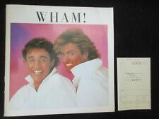 Wham ! 1985 Japan Tour Book Concert Program George Michael Make It Big era