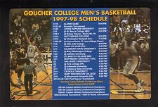 Goucher Gophers--1997-98 Basketball Magnet Schedule