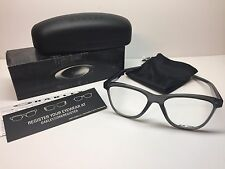 NIB Oakley Grounded Grey Smoke Frames OX8070-0353 Eyeglasses 53/17/138 W/Case