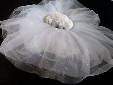 Revolution Dancewear Girls White Dance Tulle Glitter Tutu Skirt SZ MC Photoshoot