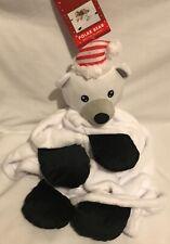 Christmas - Polar Bear - Plush Pet Bedtime Blanket - 80x100cm - Brand New
