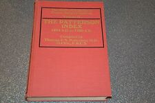 The Patterson index (1864-1920) Volume II