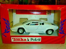 die cast 1/25 Tonka/Polistil- Lamborghini Countach C/spoiler bianca  scala 1/25