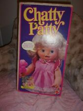 1983 CHATTY PATTY DOLL w/ ORIG OUTFIT, TOYS & BOX ~ MATTEL  ~ SHE TALKS!  # 7023
