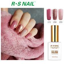 3PCS RS Gel Nail Polish UV LED Soak Off Glitter Colour 172 298 255 Pink Set 45ml