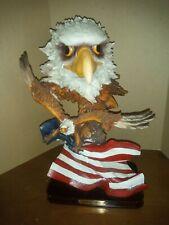 "Ashley Belle Eagle Head, Flying Eagle And Flag. 12"""