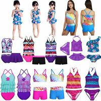 Kids Girls Two Piece Halter Tankini Bikini Set Swimwear Swimsuit Bathing Suit