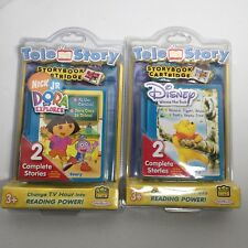 Tele Story- Storybook Cartridge Lot of 2  Dora the Explorer & Winnie the Pooh
