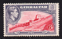 Gibraltar 6d Stamp c1938-51 Mounted Mint Hinged Perf 13 (6649)