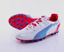 Puma evoSPEED 5 AG Astro Ground Junior Football Boots Cleats White UK Size 5.5