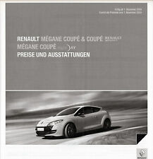 Renault-MEGANE-Coupe R.S. - PRICE LIST - 12/09 - German-NL-shipping trade