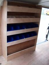 VW TRANSPORTER LWB RACKING PLYWOOD SHELVING AND PLASTIC BINS Storage accessories