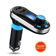 Bluetooth Car Kit FM Transmitter Hands-free Dual USB Charger Port For iPhone 7 6