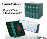 SET COMPLETO Album RACCOGLITORE collezione MONETE Regno d'Italia 5 VOLUMI NUOVI