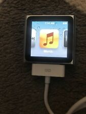 Apple iPod nano 6th Generation Silver 16 Gb No Scratches Working Charger Bundle