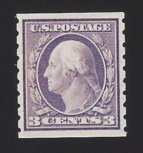 US #394 1910-13 Violet Type I WMK 190 Perf 8.5 Vert Mint OG LH VF SCV $60