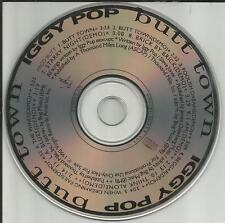 The Stooges IGGY POP Butt Down w/ 10 ULTRA RARE DEMO TRX PROMO DJ CD 1990 USA