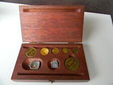antique brass weights grains