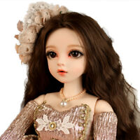 60cm BJD Doll Dress Wigs Shose Hat Makeup Dream Girl Toddler Reborn Birthday Toy