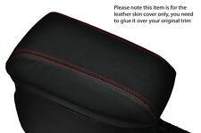 RED STITCH ARMREST LEATHER SKIN COVER  FITS TOYOTA AURIS 2012-2015