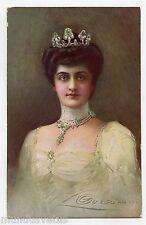WW1 .GUERZONI .Magnifique portrait de la reine d'ITALIE Hélène de Monténégro