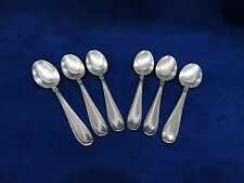 Antique 800 Silver Demi Spoons (6) Italian Siddiolo Giuseppe